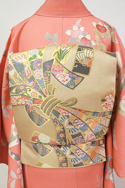 銀座【L-5424】袋帯 香色 束ね熨斗文