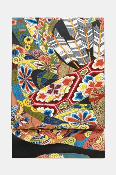 銀座【帯3665】西陣 白綾苑大庭製 袋帯 (反端 証紙付)