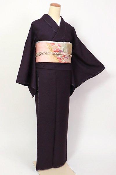 銀座【C-2004】色無地 滅紫色 南天の地紋(反端付)