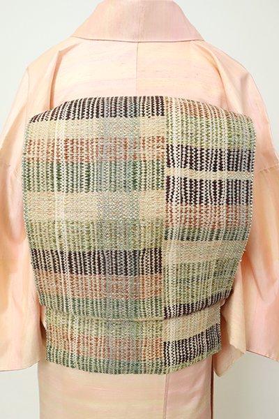 銀座【K-7229】紬地 織八寸名古屋帯 多彩な変わり段