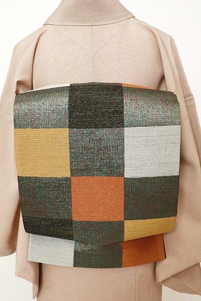 銀座【L-5442】袋帯 多彩な市松文