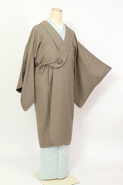 銀座【E-1350】(細め)へちま衿 和装コート生壁色 雪月花の地紋