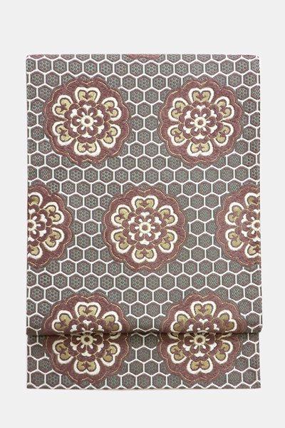 銀座【帯3674】西陣 河合康幸製 唐織 袋帯
