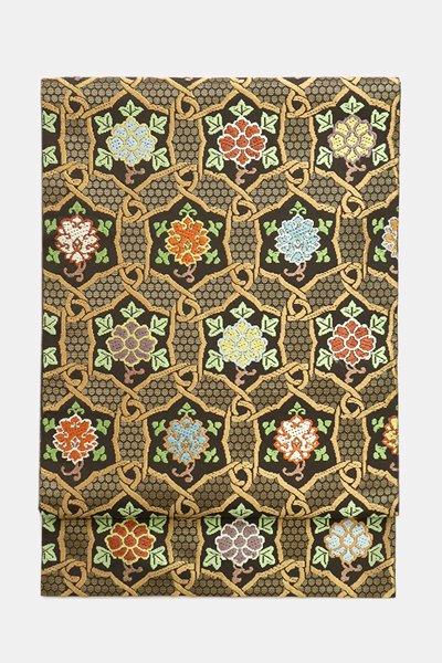銀座【帯3678】西陣 川島織物製 本袋帯 本金 加良錦