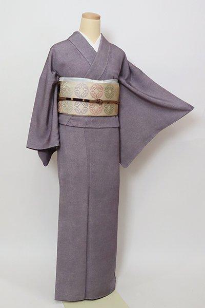 銀座【C-2015】(広め)繍一ッ紋 江戸小紋 滅紫色 鮫(落款入)