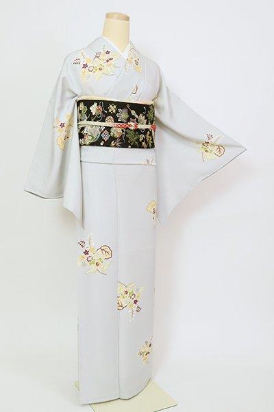 銀座【D-2718】小紋 白花色 桐花散らし文