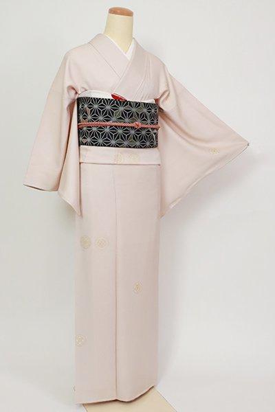 銀座【D-2719】小紋 灰桜色 装飾丸文(反端付)