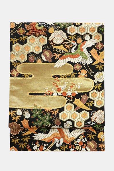 銀座【帯3691】西陣 河合美術織物製 袋帯