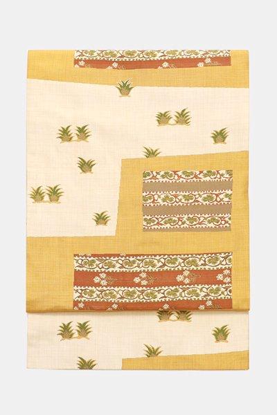 銀座【帯3695】西陣 今河織物製「木屋太」袋帯