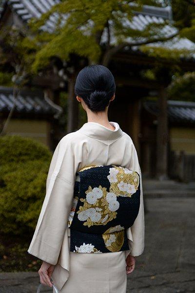 銀座【帯3705】西陣 山口美術織物製 袋帯