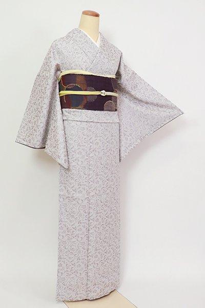銀座【A-3291】御召 紫水晶色 花唐草文
