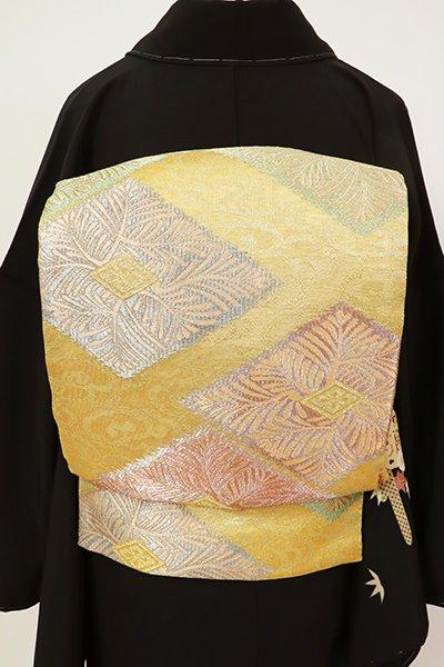 銀座【L-5522】袋帯 金色 松菱文