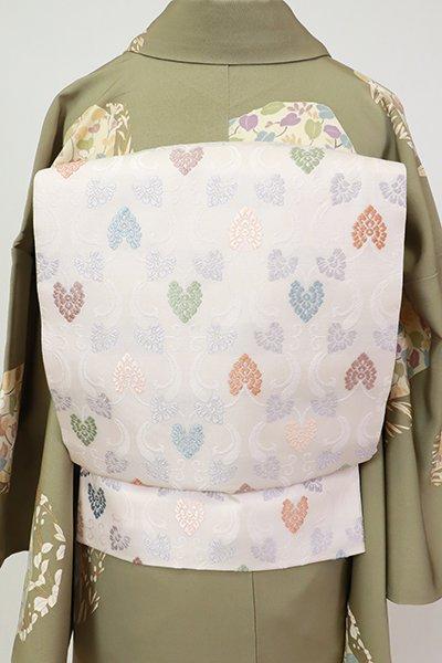 銀座【L-5525】袋帯 桜色 轡唐草文