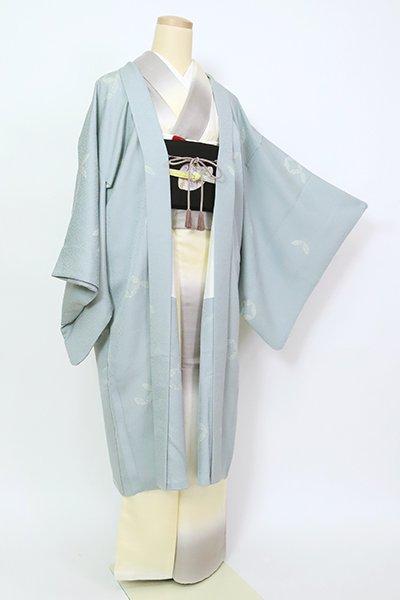 銀座【E-1360】羽織 灰青色 破れ七宝文(羽織紐付)