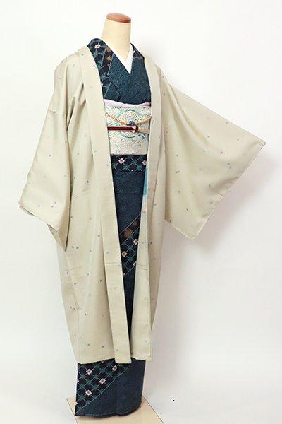 銀座【E-1368】羽織 砂色 桜の花弁の図(羽織紐付)
