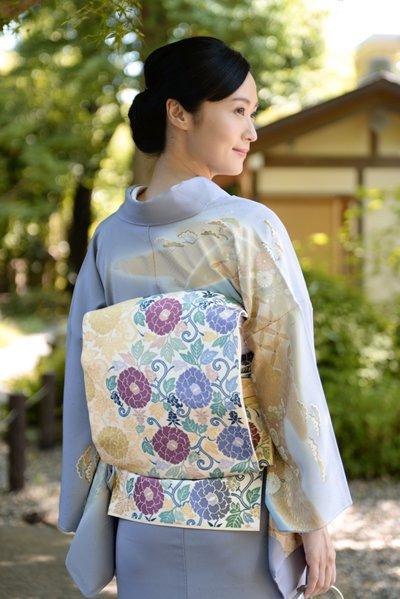 銀座【帯3723】西陣 川島織物製 本袋帯 (西陣証紙 栞付き)