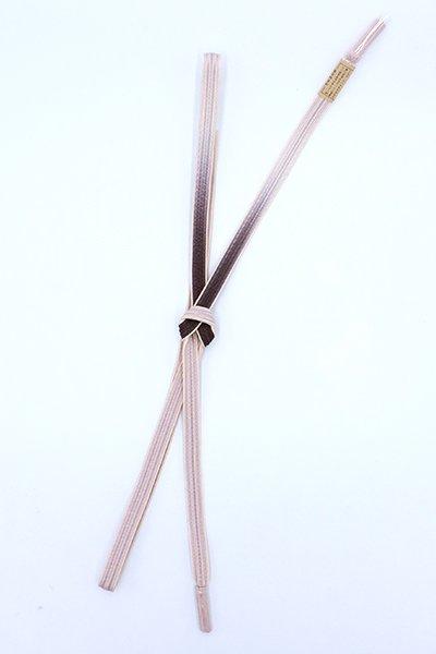 【G-1796】京都 衿秀製 帯締め 綾竹組 似せ紫色×鴇鼠色 二色暈かし