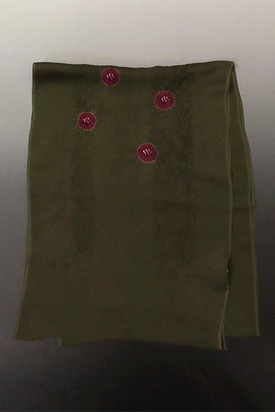 【G-1803】京都衿秀  帯揚げ 輪出し絞り 濃い海松色×葡萄茶