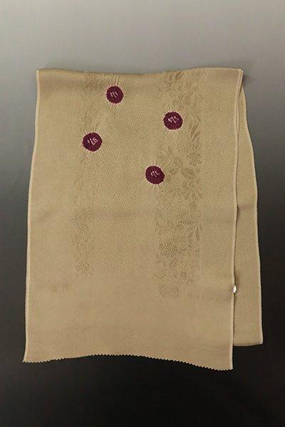 【G-1804】京都衿秀  帯揚げ 輪出し絞り 利休茶×桑の実色