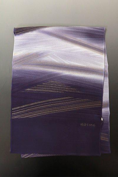 【G-1807】京都衿秀  帯揚げ 斜め段暈かし 深紫色
