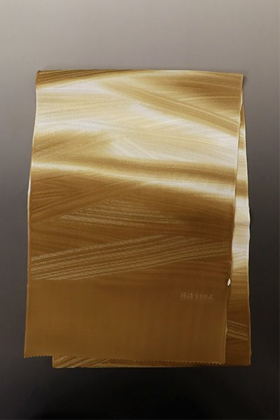 【G-1808】京都衿秀  帯揚げ 斜め段暈かし 濃い芝翫茶色