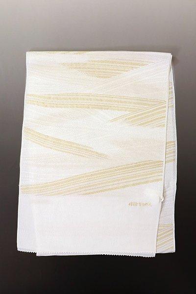 【R-701】京都衿秀  帯揚げ 斜め段暈かし 白色