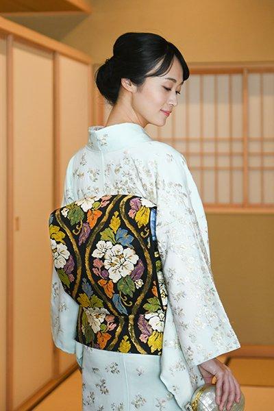 あおき【帯3759】西陣 河合美術織物製 袋帯
