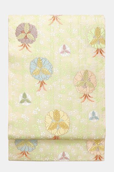 あおき【帯3760】西陣 山口美術織物製 袋帯「枝垂れ桜に薬玉文」(保証書等付属品付)