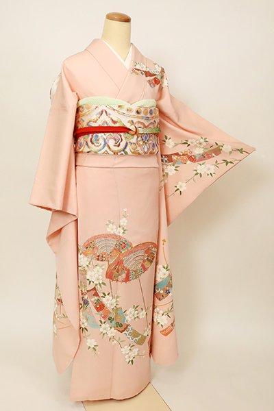 銀座【B-2866】(L)振袖 虹色 桜に傘や短冊の図