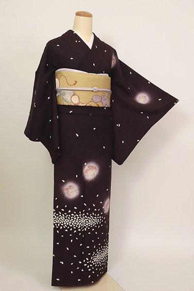 銀座【B-2869】(S)訪問着 似せ紫色 桜の花弁の図