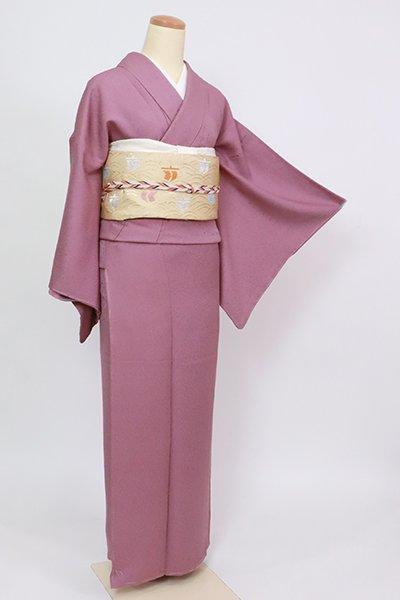 銀座【C-2058】繍一ッ紋 色無地 淡い京紫色