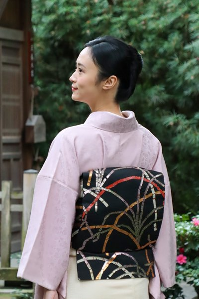 銀座【帯3773】龍村平蔵製 本袋帯 銘「豊公芒文」