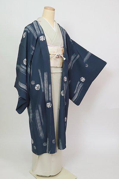 あおき【E-1379】羽織 紺鼠色 丸文