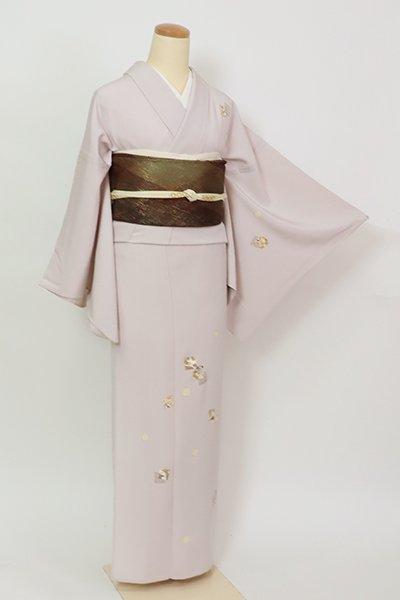 銀座【B-2887】単衣 付下げ 薄桜色 色紙に四季花の図