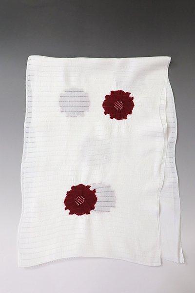 【G-1835】京都衿秀 絽 帯揚げ 飛び絞り 赤銅色 花