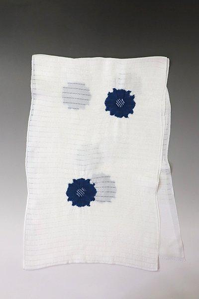 【G-1836】京都衿秀 絽 帯揚げ 飛び絞り 藍色 花