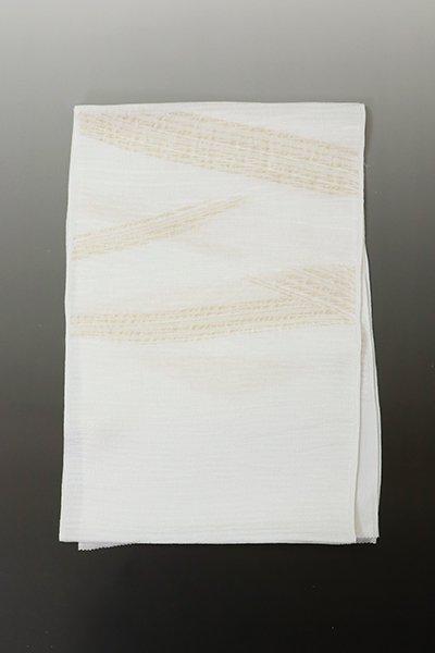 【R-750】京都衿秀  絽 帯揚げ 斜め段暈かし 白色