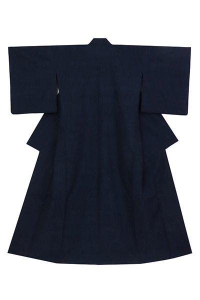 銀座【着物3141】薩摩絣 単衣 藍色 流線文