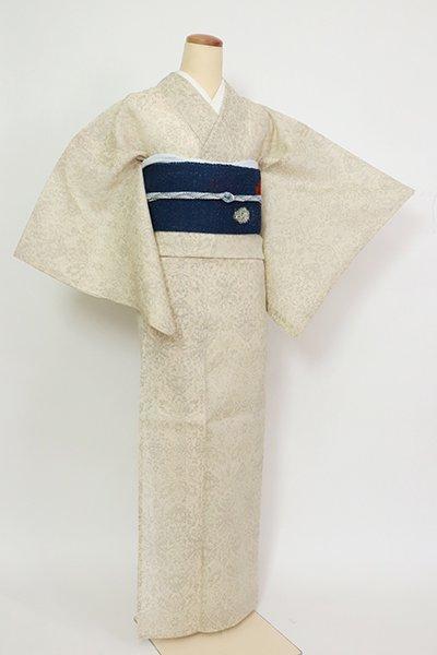 銀座【A-3358】(細め)夏紬 練色 装飾文