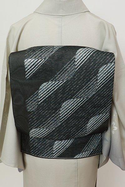 銀座【L-5690】絽 袋帯 黒色 抽象文