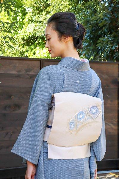 銀座【帯3880】西陣 川島織物製 八寸名古屋帯 (西陣証紙付)