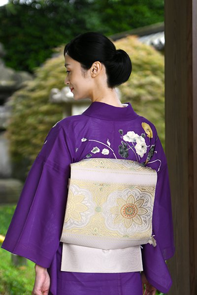 銀座【帯3884】西陣 渡文製 夏袋帯