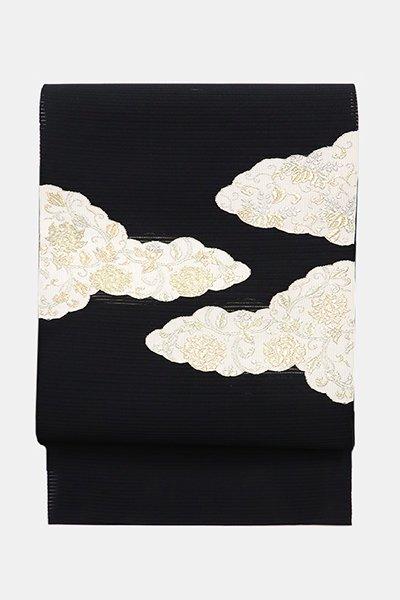 銀座【帯3886】西陣 河村織物製 絽綴八寸名古屋帯
