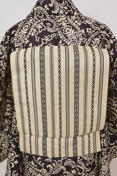銀座【K-7585】博多織 紗献上 八寸名古屋帯 鳥の子色