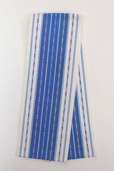 【G-1860】博多織 伊達締め 群青色×白色(新品・証紙付)