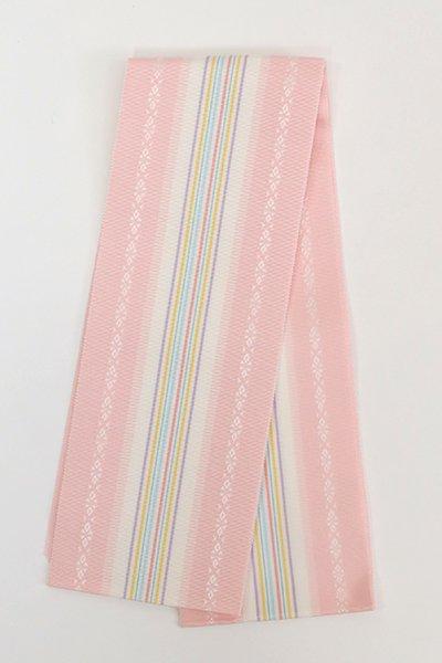 【G-1862】博多織 伊達締め 虹色×白(新品・証紙付)