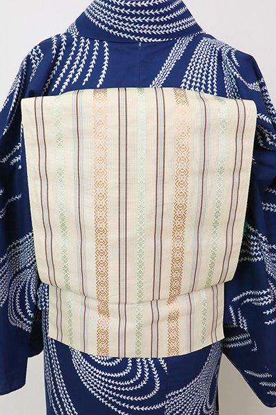 あおき【K-7627】博多織 八寸名古屋帯 紗献上 砥粉色