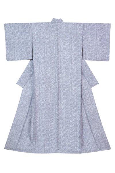 銀座【着物3204】染の北川製 単衣小紋 白色 楓文 (反端付)