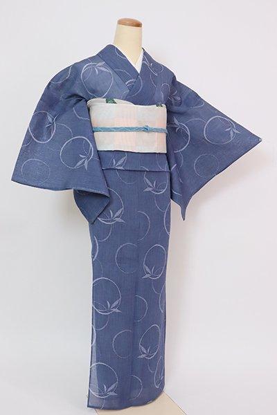 あおき【A-3403】小千谷縮 青藍色 笹の丸(証紙付)