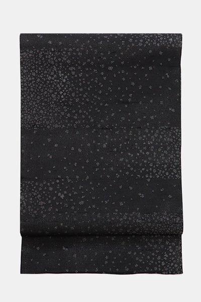 銀座【帯3941】白山工房製 夏牛首紬地 染洒落袋帯